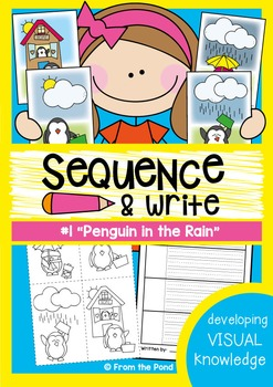 Sequence and Write - Penguin in the Rain - Visual Text
