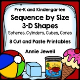 Sequence by Size: 3-Dimensional Shapes  8 Cut and Glue Printables