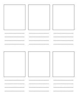Sequence chain or storyboard writing page