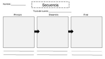 Sequence graphic organizer (Spanish)