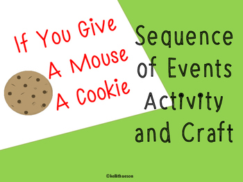 If You Give a Mouse a Cookie: Sequence of Events Activity