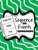 RI.3.8, RL.3.5 - Sequence of Events Foldable for Interactive Notebooks FREEIBE!