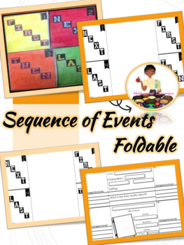 Sequence of Events Foldable First,Next,Then, Last