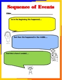 Sequence of Events Graphic Organizer Anchor Chart