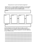 Sequence of Events Graphic Organizer with Summary Section