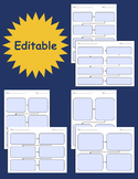 Sequence of Events Graphic Organizers - Fillable & Editable