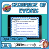 Sequence of Events Interactive Digital Boom Cards Distance