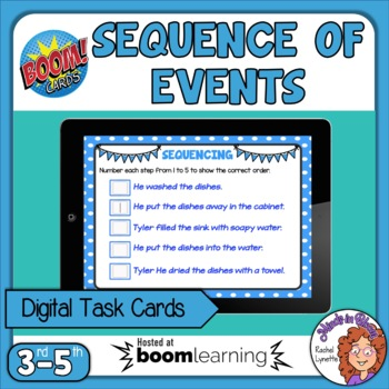 Sequence of Events Interactive Digital Task Cards