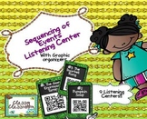 Sequence of Events Listening Center QR Codes with Graphic Organizer