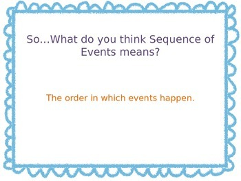 Sequence of Events PowerPoint