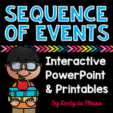 Sequence of Events PowerPoint and Worksheets for 1st, 2nd, and 3rd Grade