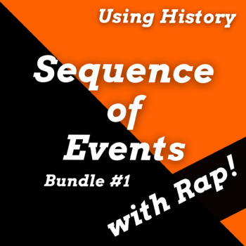 Reading Passages with Sequencing  Using History Songs Bundle #1