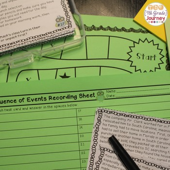 Sequence of Events Task Cards: 32 Task Cards + Poster, Game Boards & More!