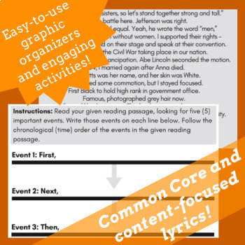 Sequence of Events Worksheets Sequence of Events Reading Passages & Songs Bundle