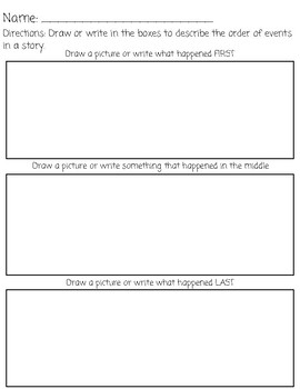 Sequence of Events in a Story (Graphic Organizer)