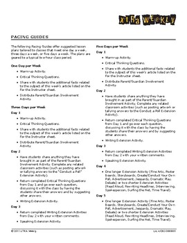 Sequence of Instruction and Pacing Guide/FAQs
