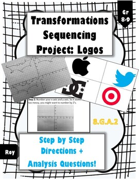 Sequence of Transformations Project: Logos (Step by Step Directions!)
