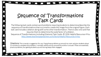 Sequence of Transformations including Dilations