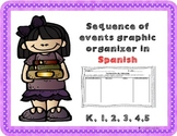 Sequence of events graphic organizer FREEBIE in Spanish