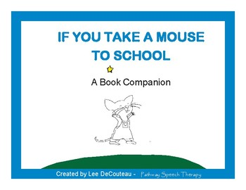 Sequence picture cards (8) for students to retell If You Take A Mouse To School