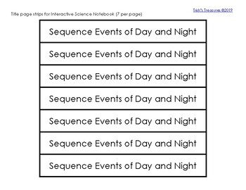 Sequence the Day and Night