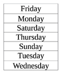 Sequence the Days of the Week and Months of the Year