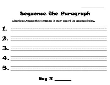 Sequence the Paragraph!