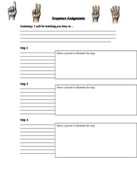 Sequence worksheet