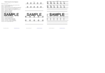 Sequenced Handwriting Instruction lessons - use all year long