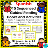Lectura Guiada! 15 Sequenced Spanish Guided Reading Emergent Books w/ Activities