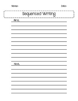 Sequenced Writing Template