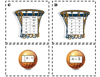 Sequences Basketball Hoop Activity