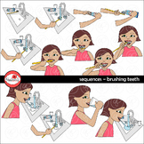 Sequences - Brushing Teeth Clipart by Poppydreamz