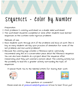 Sequences - Color By Number