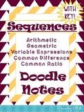 Sequences Doodle Notes