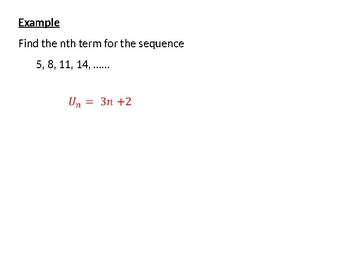 Sequences: Finding the nth term