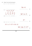 Sequences Guide and Worksheet SOLUTIONS