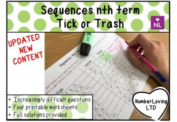 Sequences Nth Term (Tick or Trash)