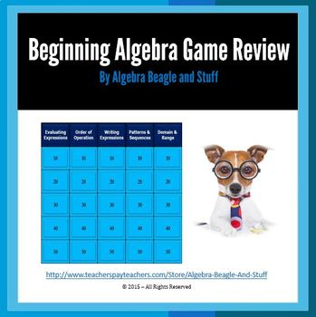 Sequences, Patterns and Expressions PowerPoint Game Review