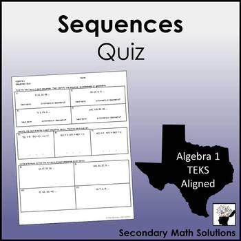 Sequences Quiz (A12C, A12D)