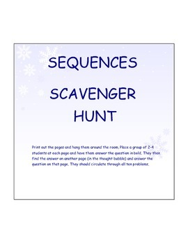Sequences Scavenger Hunt