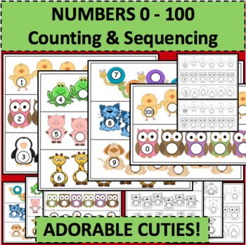 Sequences Sequencing Templates Counting Numbers 1-30 Activity Game Activities