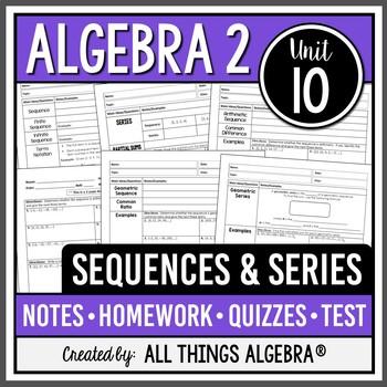 Precalculus teaching resources lesson plans teachers pay teachers sequences and series algebra 2 curriculum unit 10 fandeluxe Choice Image