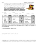 Sequences & Series Clue Game