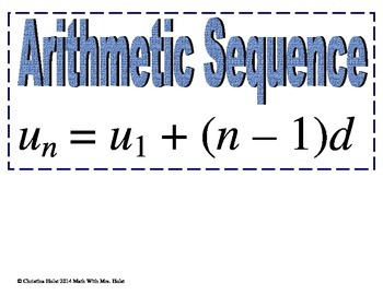 Sequences & Series Word Wall