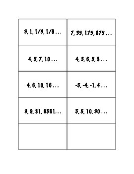 Sequences Sort Activity