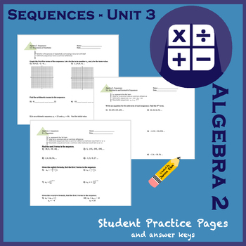 Sequences Unit 3 Set - Student Practice Worksheets