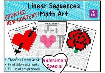 Sequences Valentine Special (Math Art)