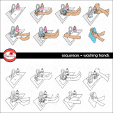 Sequences -Washing Hands Clipart by Poppydreamz