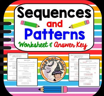 Sequences and Patterns Practice Worksheet Sequence Pattern Table Word Problems